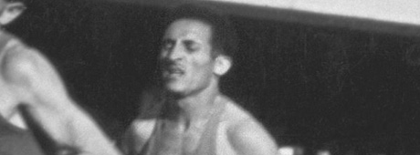 Helsinki 1952, Games of the XV Olympiade. Frenchman of Algerian origin Alain MIMOUN O'KACHA performs in the 10,000m.
